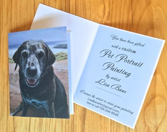 Gift Certificate for Custom Pet Painting