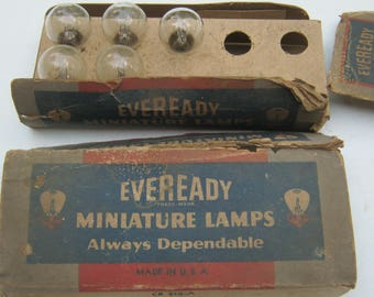 Box of 5 Eveready No. CR 810-A Miniature Globe Lamps Light Bulbs