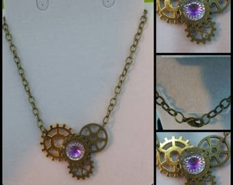 4 Gear SteamPunk Necklace