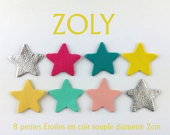 8 stars diameter 2cm 7 colors