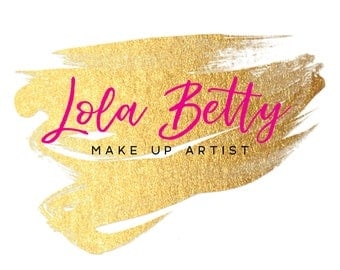 Premade Logo Design  |  Gold logo  |  MUA Logo  |  Gold foil Logo | Watermark | Etsy Branding | Branding Package | Make up Artist Logo