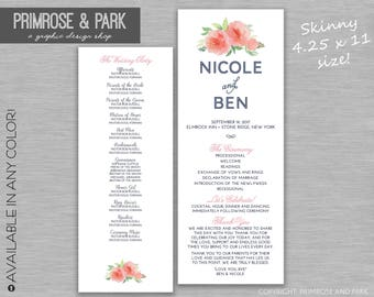 Wedding Ceremony Program Rustic Printable // Ceremony Program // Unique Wedding Program