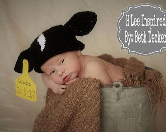 Calf Newborn Photo Prop Crochet Hat Beanie