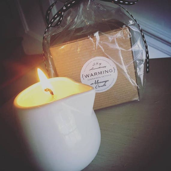 Half Off Sale...AROMATHERAPY MASSAGE CANDLE {Natural Wax, Massage Oils & Essential Oils}