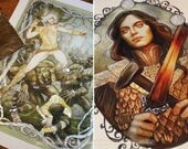 Special listing for CA: gilded prints