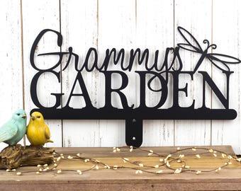 Custom Metal Garden Name Sign   Custom Garden Sign   Gift For Her   Garden Sign   Metal Sign   Name Sign   Personalized Sign