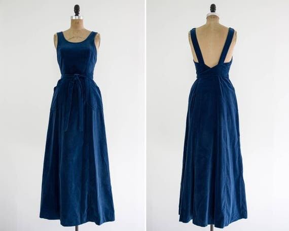 vintage 1970s velvet wrap dress | Lanz 60s dress | 1970s maxi dress |