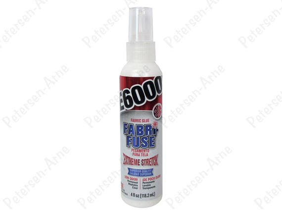 E6000 Fabric Fuse extreme stretchable, washable can be sewn through after dry,  low odor,  1oz. trial size