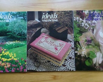 Lot of 3 Issues of IDEALS Magazines 1984 -Valentines Easter Mother's Day