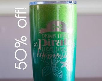 Sample Sale!  Drink Like A Pirate Coffee Mug