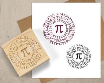 PI Stamp, Math Gift, Math Geek Stamp, Math Teacher Stamp, Math Symbol Stamp, Pi Day, Math Lover, Math Notebook Stamp, Scrabook Stamp 089