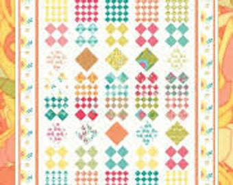 Diamonds in the Rough Quilt Kit. Featuring Moda Fabric. by Coach House Designs