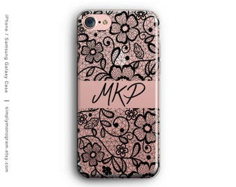 iPhone 7 Case, Personalized, iPhone X Case, iPhone 8 Case, iPhone 6 Case, Monogram, iPhone 8 Plus Case, Galaxy S8 Case, Samsung Galaxy Case