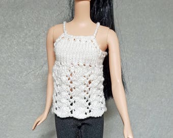 Knitted top for Barbie and similar dolls
