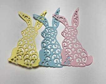 Lacy Easter Bunny Die Cuts   Choose your Color