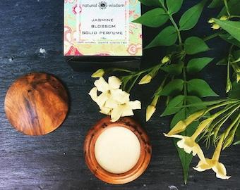 Jasmine Blossom Solid Perfume. 100% natural. Vegan, Alcohol free. 15g