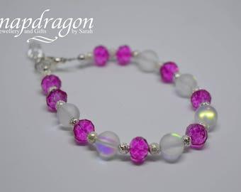 Hot pink sparkle bracelet