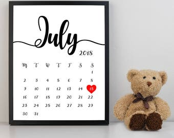 Custom Printable Pregnancy Announcement with due date or save the date/wedding announcement