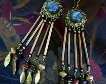 Vintage Boho Porcupine Quill Earrings