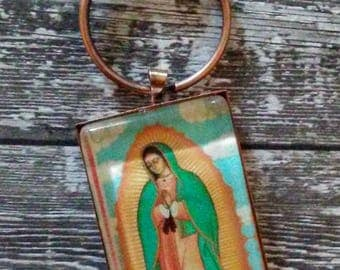 Our Lady of Guadalupe Pendant or Keyrin