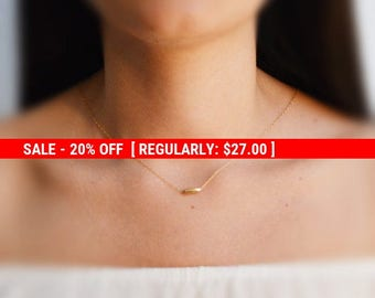 SALE 20% OFF Gold necklace,layering necklace,tiny bead necklace,minimalist necklace gold,simple gold necklace,delicate necklace,14k gold
