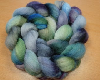 Dreamy  - Merino roving in grey, blue, green and purple