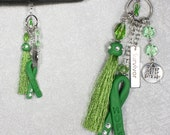 RESERVED: Non Hodgkins Lymphoma Car Charm / Rear View Mirror Charm / Cancer Awareness Collection