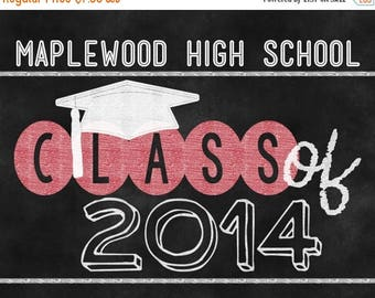 30OFF Back To School Sale Class of 2015 Graduation Photo Prop Printable Chalkboard Sign