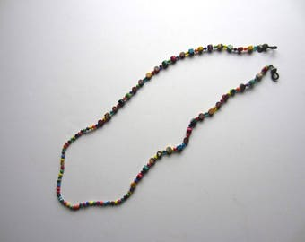 Beaded Eyeglass Chain Multi-colored Beads