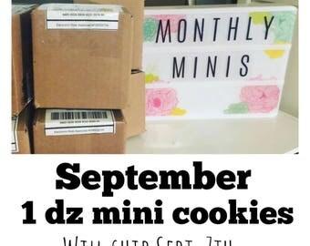 Monthly Mini Cookies 1 dz mini