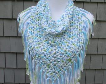 Crochet Triangle Scarf, Bandana Crochet Scarf, Spring Triangle Scarf, Crochet Bandana, Crochet Scarf by CROriginals