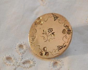 Grape Wreath Golden Age Antique Button - Benedict & Burnham Circa 1834-1843