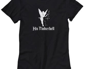 Disney His Tinkerbell Gift Shirt for Women Her Peter Pan Couple Love Gifts Wendy Tink