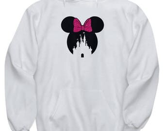 Magic Castle Mouse Hoodie Gift Pink Bow Love Fan Fanatic Magical Sweatshirt