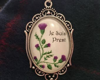 Je Suis Prest and Scottish Thistle necklace