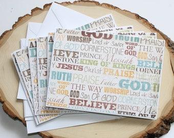 Christian Ministry Card Set - Thank You Card Set - Hello Card Set - Encouragement Card Set - Blank Card Set of 6