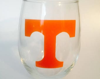 Tennessee Vols // Volunteers // Tailgate Season 15 Oz Wine Glass