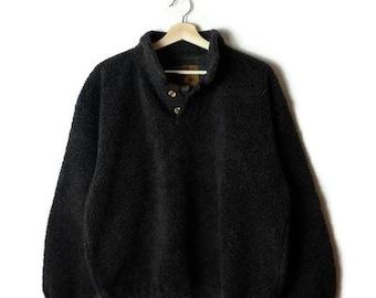 Vintage Grey/Gray  fleece pullover from 90's*