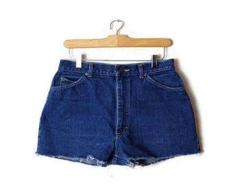 Vintage  Lee Dark Green High Waist Denim Shorts from 80's/W27*