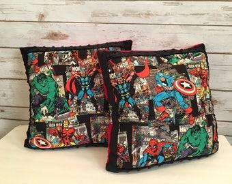 Marvel Avengers comic book print throw pillow