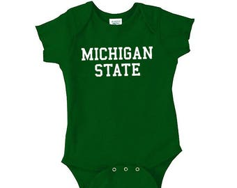Michigan State Spartans Basic Block Creeper - Forest