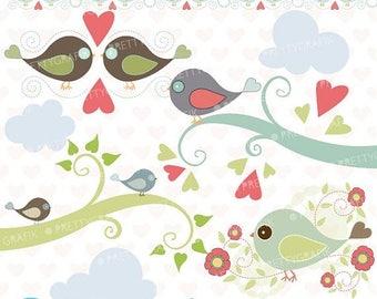 80% OFF SALE bird tweet clipart commercial use, vector graphics, digital clip art, digital images  - CL426