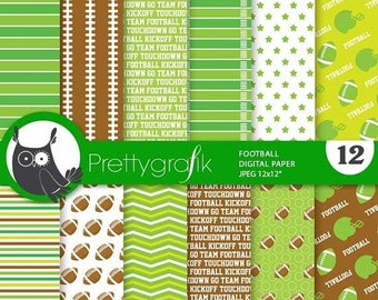 80% OFF SALE Football digital paper, commercial use,  scrapbook papers,  background, sports - PS869