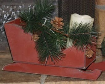 Red Sleigh - Wood