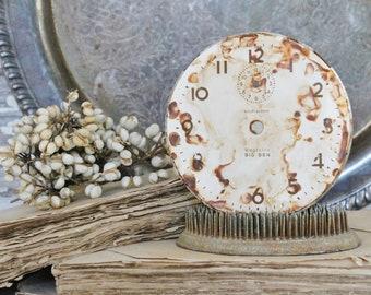 Vintage Clock Face BIG BEN WESTCLOX Farmhouse Decor Industrial Salvage Fixer Upper Decor