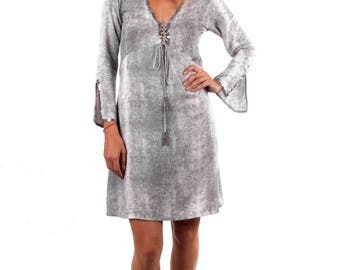 Fitted Swing Dress Taupe