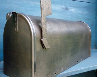 Aged Copper  Patina Mailbox ***LARGE  SIZE***