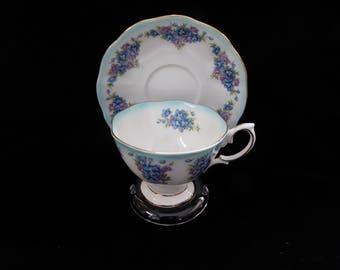 Vintage Royal Albert Dainty Dina Series EMILY Tea Cup and Saucer