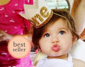 Baby Birthday Crown || 1st Birthday Hat || First Birthday Crown  || Birthday Crown || Girl Birthday Crown || White Birthday Crown
