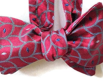 Silk Bow Tie for Men - Entreprenur - One-of-a-Kind - Handcrafted, Self-tie - Free Shipping